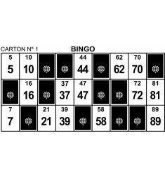 Cartons de Bingo troquelats