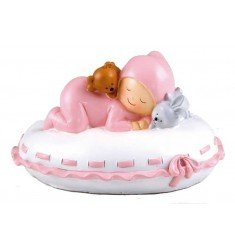 Figure cake + piggy bank Baby pillow