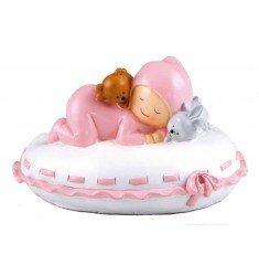 Figure cake + piggy bank Baby pillow