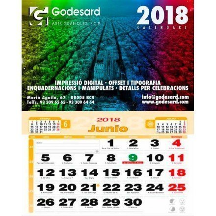 Calendario de pared 43,5 cm. 2019 (2,3 €+)