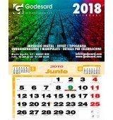 Calendario de pared 43,5 cm. (2,3 €+)