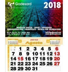 Calendario de pared 43,5 cm. (2,3 €+)