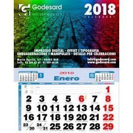 Calendario de pared 33,5 cm. 2019 (1,6 €+)