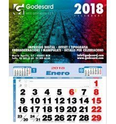 Calendario pared 33,5 cm. 2019 (1,6 €+)