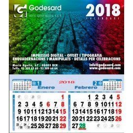 Calendario de pared 23,5 cm. (1,35 €+)
