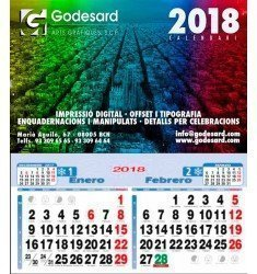 Calendario pared 23,5 cm. 2019 (1,35 €+)