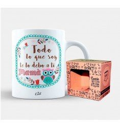"Mug ""Everything I Am I owe you Mom"""