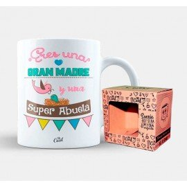 """Mug """"You're a great mother and a super grandmother"""""""