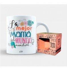 "Taza ""La mejor mama del mundo mundial"""