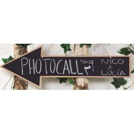 Photocall arrow blackboard