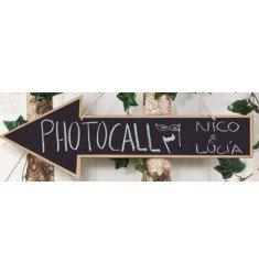 Pizarra flecha Photocall