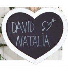 Heart blackboard to hang