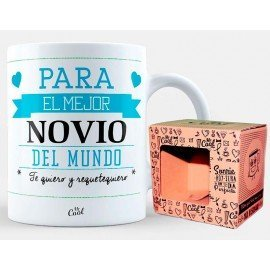 """Mug """"For the best boyfriend in the world, I love you and I want you"""""""