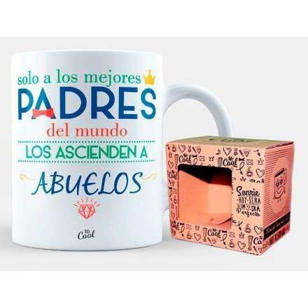 """Mug """"Only the best parents in the world are promoted to grandparents"""""""