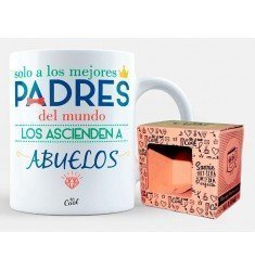 "Mug ""Only the best parents in the world are promoted to grandparents"""