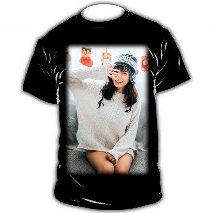 Camiseta personalizada color negro