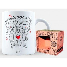 "Mug ""When the love arrives like that, you do not even notice"""