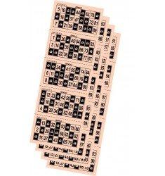 Cartones de bingo troquelados color crema