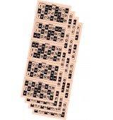 Cartons de Bingo troquelats color crema