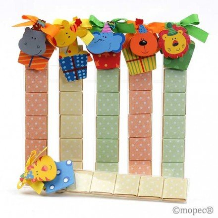 Clamp + magnet wooden animals