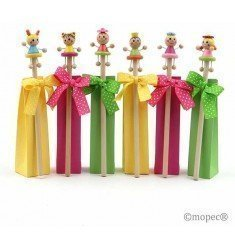 Wooden pencil candy girls 3