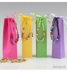 Polsera multicolor en caixa amb 5 caramels