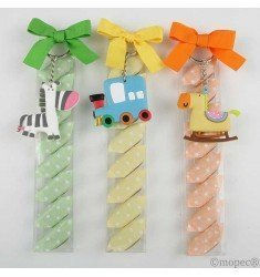 Key Train / zebra / horse 8 candies