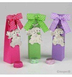 Clauer Pop & Fun moto caixa fúcsia / verd / lila 2 xocolates