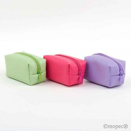Zipper Wallet 2 Green / purple / fuchsia chocolates