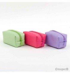 Monedero cremallera 2 bombones verde/lila/fucsia
