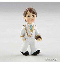 Portafoto niño almirante blanco