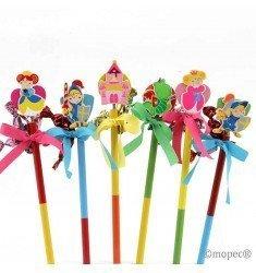Pencil Princess, Prince and Dragon candy