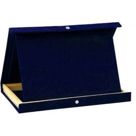 Case with interior support for tribute plaque