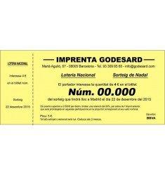 Impresión participaciones loteria