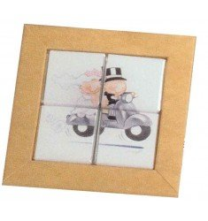 Case for 4 Neapolitan pit-hard motorcycle puzzle