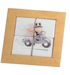 Estuche 4 napolitanas puzzle pit-pita moto
