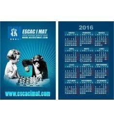 Calendarios de bolsillo plastificados