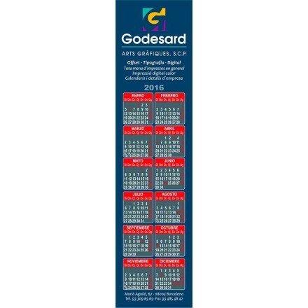 Calendario imán punto de libro