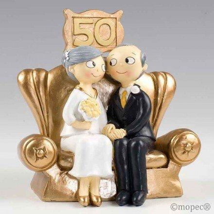 Figura pastel Bodas de Oro Pop&Fun