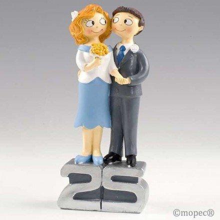 Figura pastel Pop & Fun bodas de plata