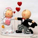Figura pastel Pit & Pita 3 corazones
