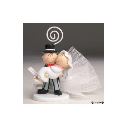 Porta-targetes Pit-pita núvia en braços