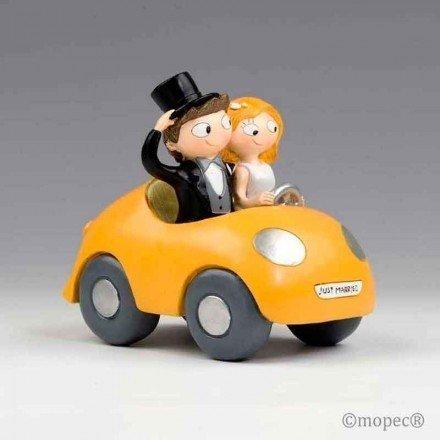 Novios Pop & Fun en coche