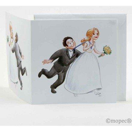 Invitación boda Si o si tirando de la corbata