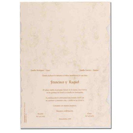 Invitación boda pergamino