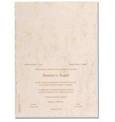 Invitació casament pergamí