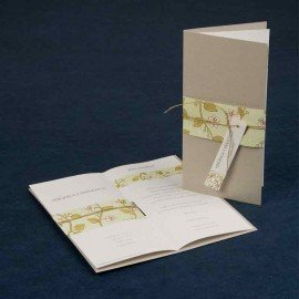 Wedding Invitation ribbon flowers