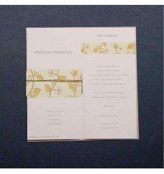 Invitació casament cinta flors