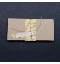 Invitación boda cinta flores