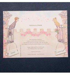 Invitación boda novios en el balcon